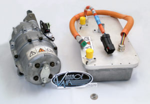 Sanden 20,000 BTU High-Voltage Compressor Supplied by Vintage Air for Use on 1990s-era Ford TH!NK